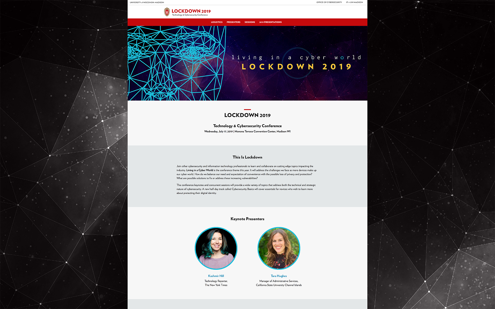 Lockdown website home page